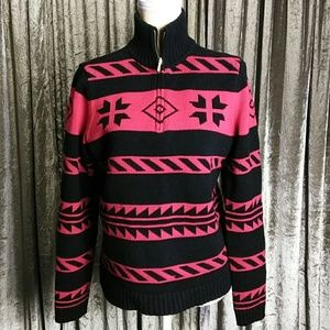 Excellent Chaps Red/Black Sweater